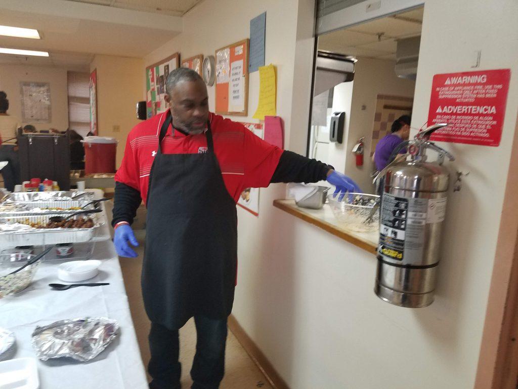 Mr. Johnson serving